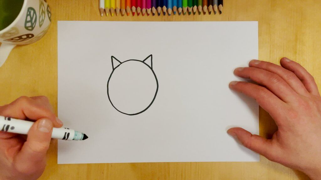 Cat-Bird Optical Illusion Step 2