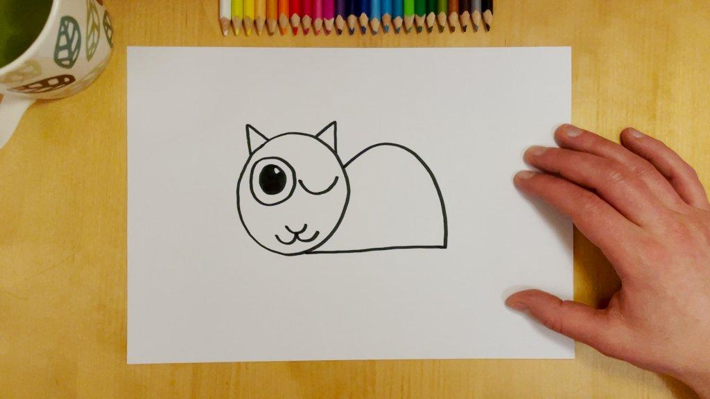 Cat-Bird Optical Illusion Step 5