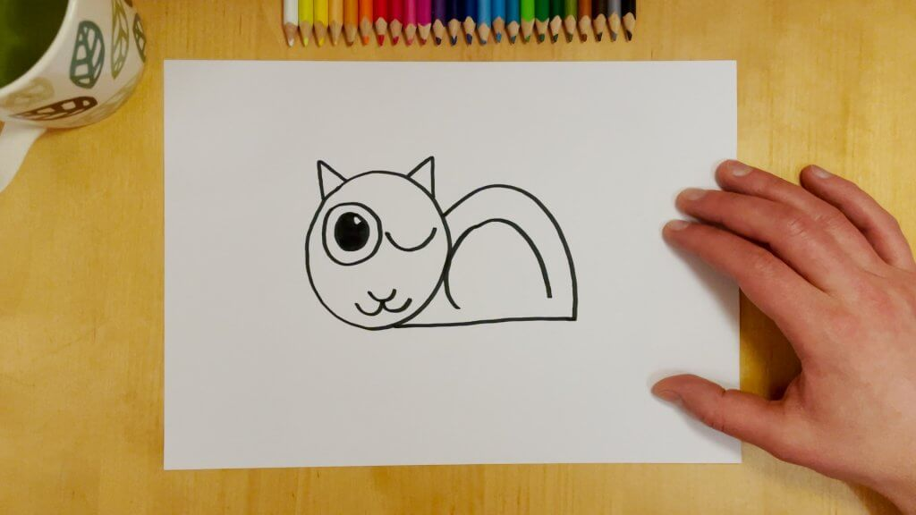 Cat-Bird Optical Illusion Step 6