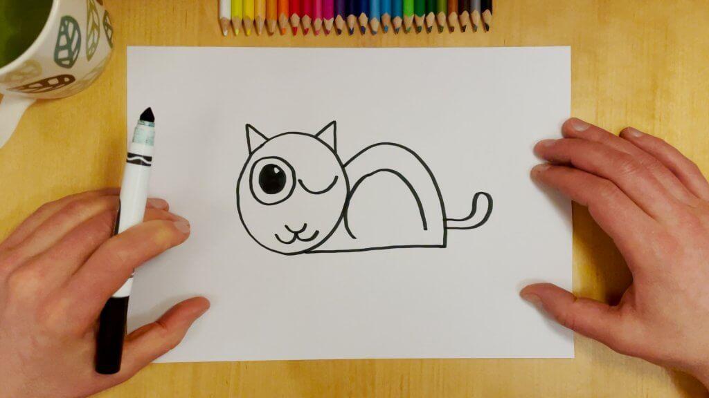 Cat-Bird Optical Illusion Step 7