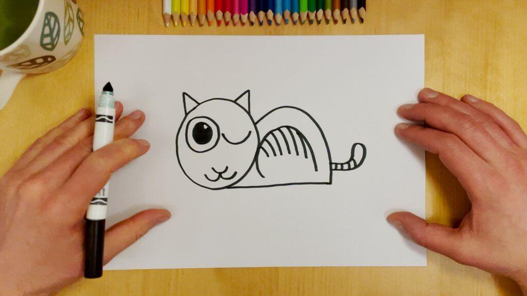 Cat-Bird Optical Illusion Step 8