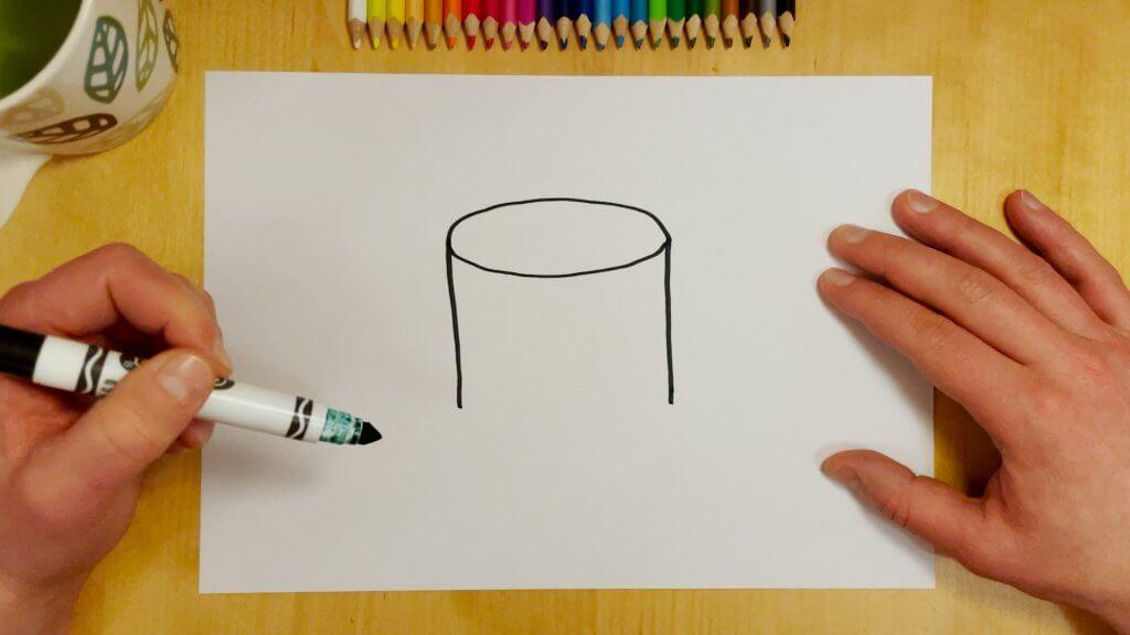 How to Draw a Coffee Mug Step 2