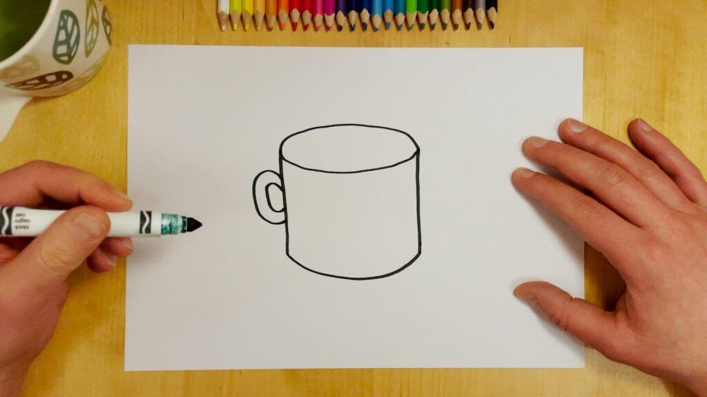 How to Draw a Coffee Mug Step 4