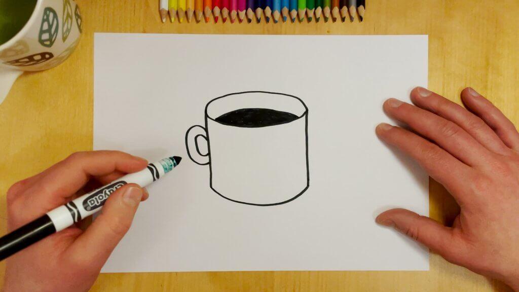 How to Draw a Coffee Mug Step 5