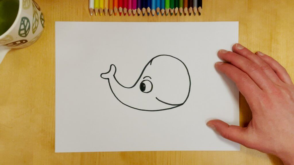 Elephant or Whale Optical Illusion Step 3