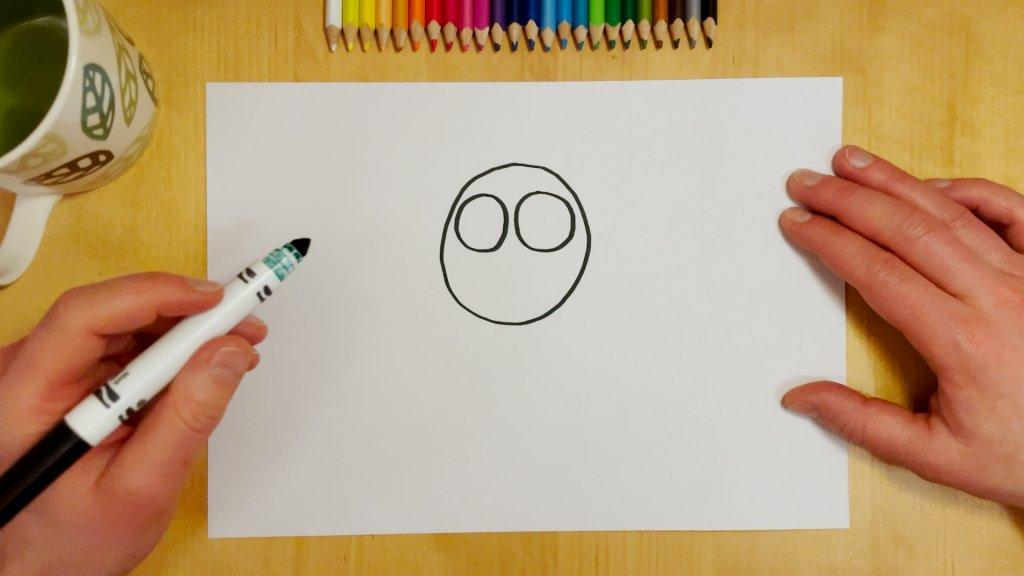 How to Draw a Cartoon Lion Step 1