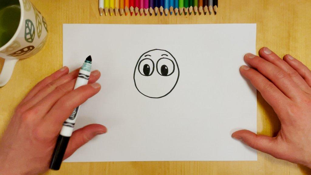 How to Draw a Cartoon Lion Step 2