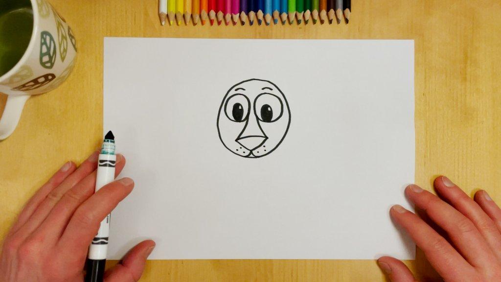 How to Draw a Cartoon Lion Step 3