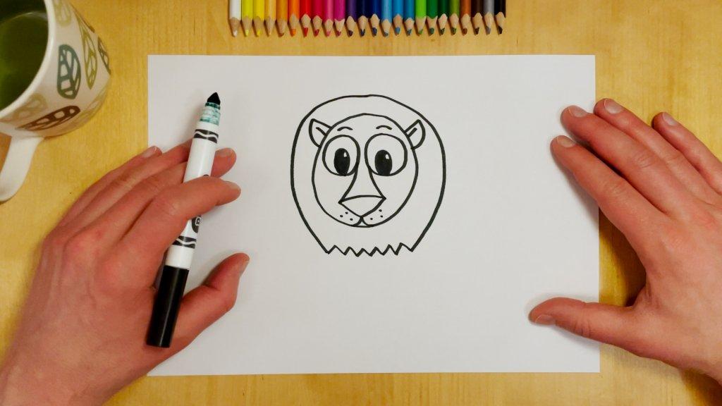 How to Draw a Cartoon Lion Step 5