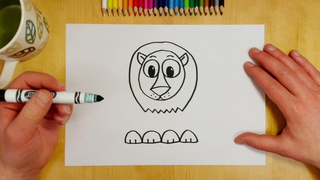 How to Draw a Cartoon Lion Step 6