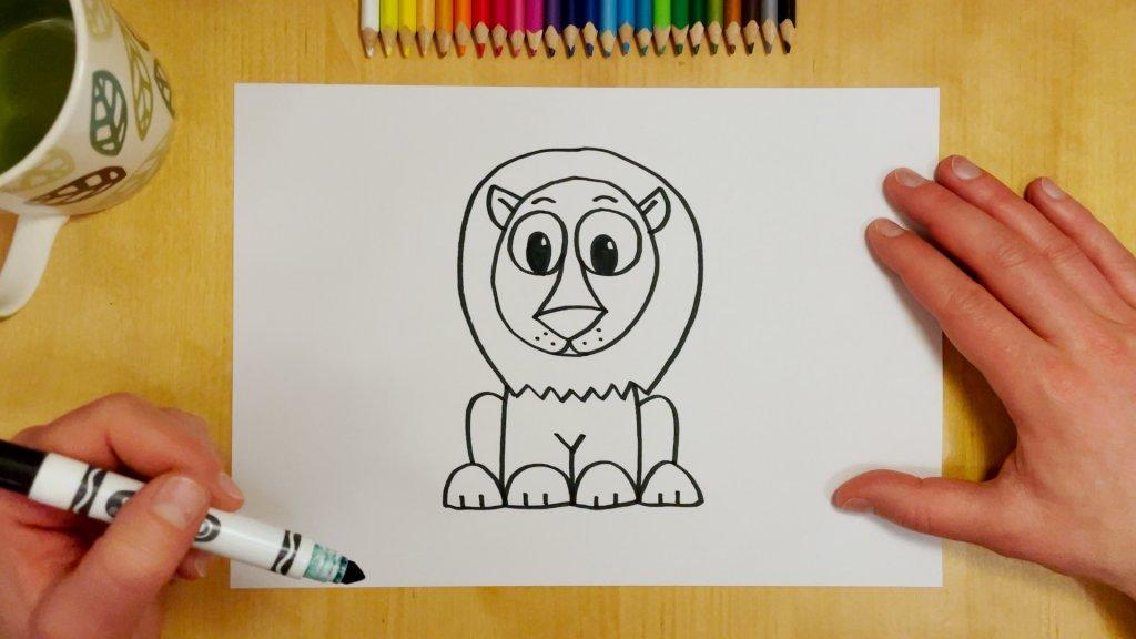 How to Draw a Cartoon Lion Step 7