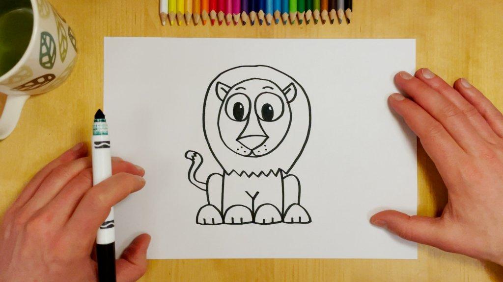 How to Draw a Cartoon Lion Step 8