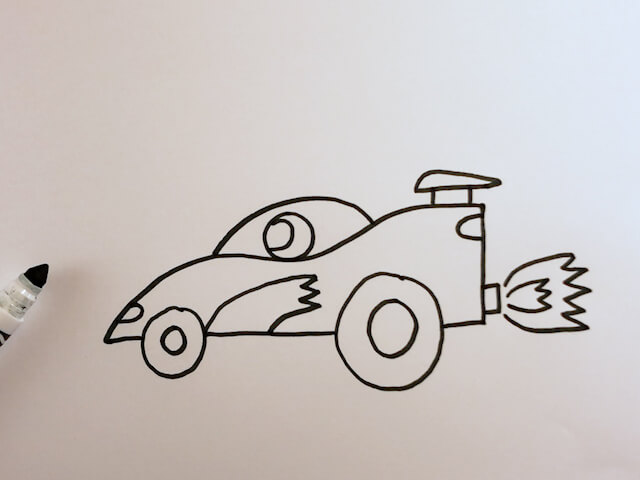 How to Draw a Fast Race Car
