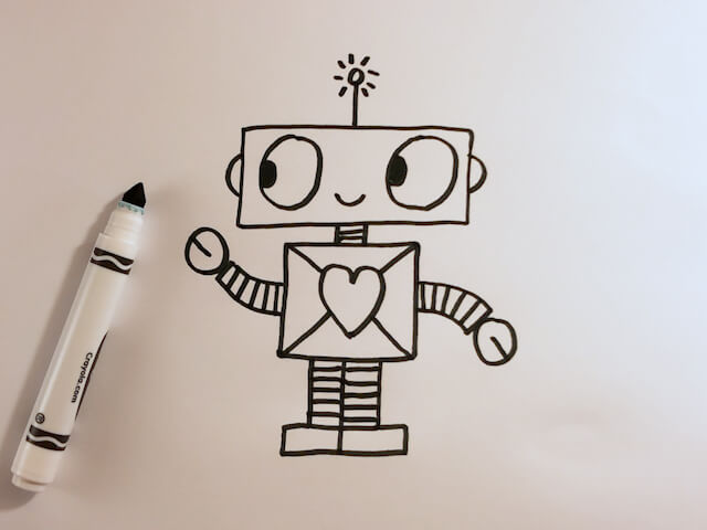 How to Draw a Cute Cartoon Robot