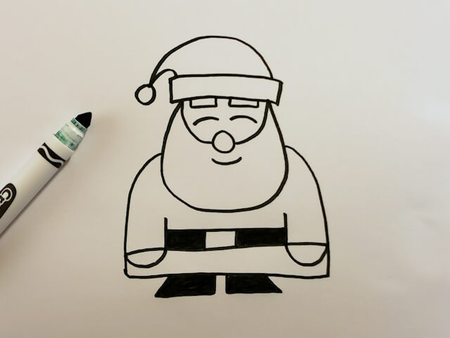 How to Draw a Cartoon Santa Claus