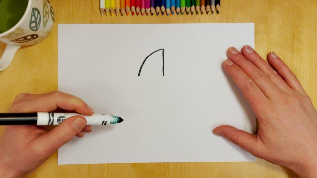 How to Draw a Cartoon Shark Step 1