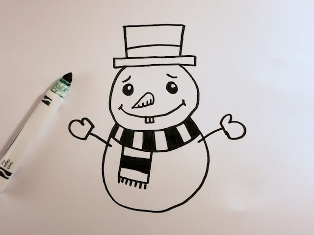 How to Draw a Cartoon Snowman