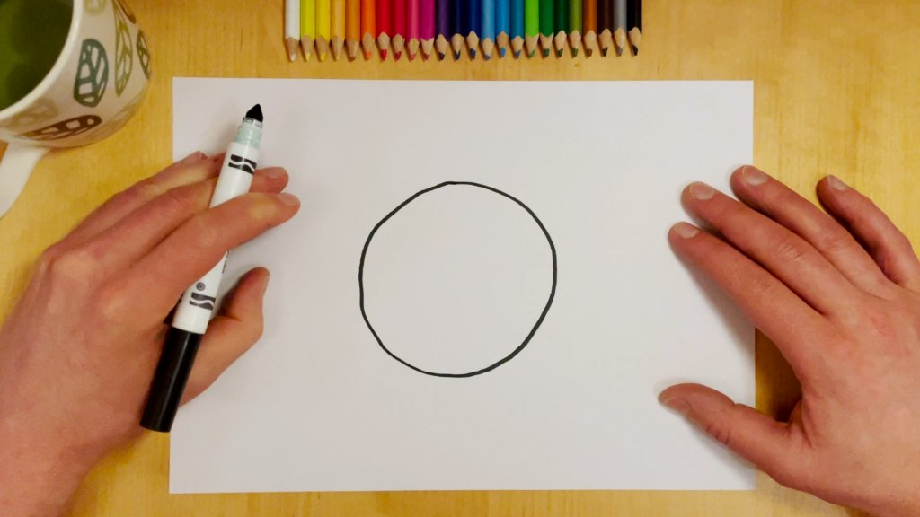 How to Draw a Soccer Ball or Football Step 1