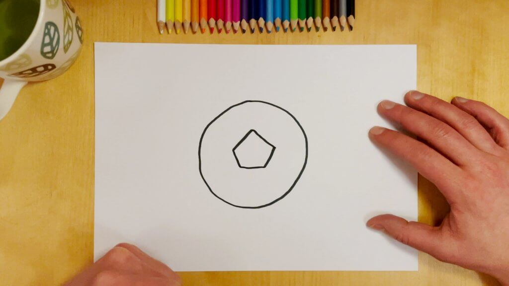 How to Draw a Soccer Ball or Football Step 2