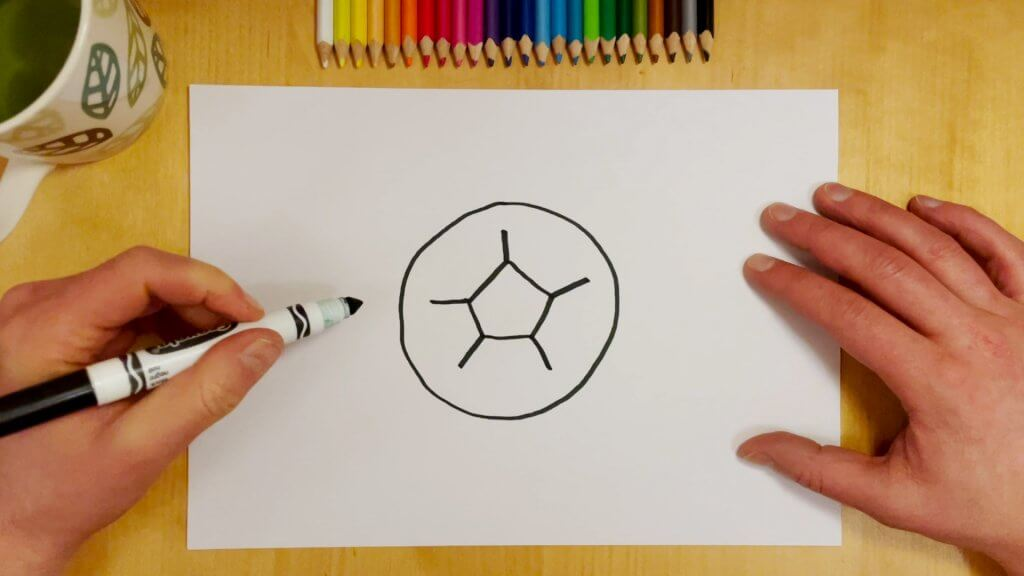 How to Draw a Soccer Ball or Football Step 3
