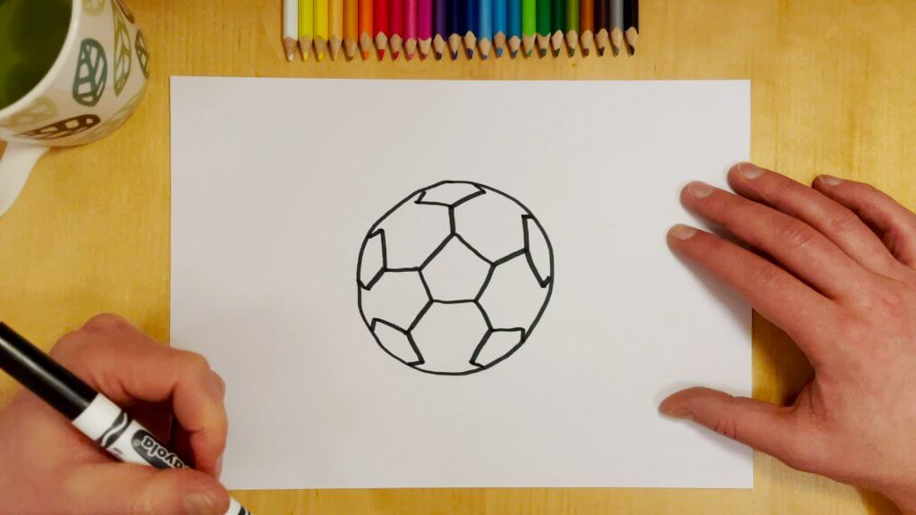 How to Draw a Soccer Ball or Football Step 5