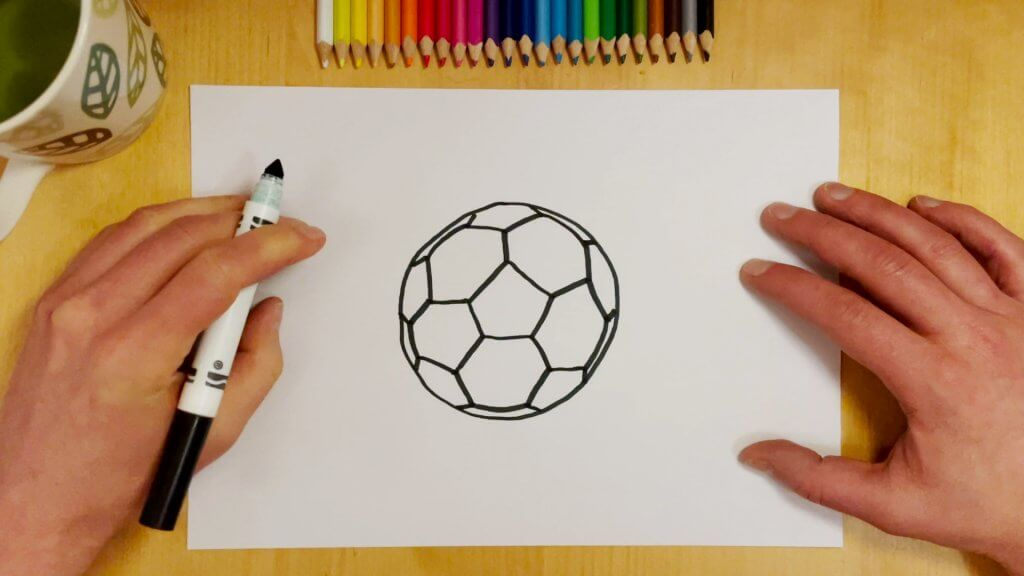 How to Draw a Soccer Ball or Football Step 6