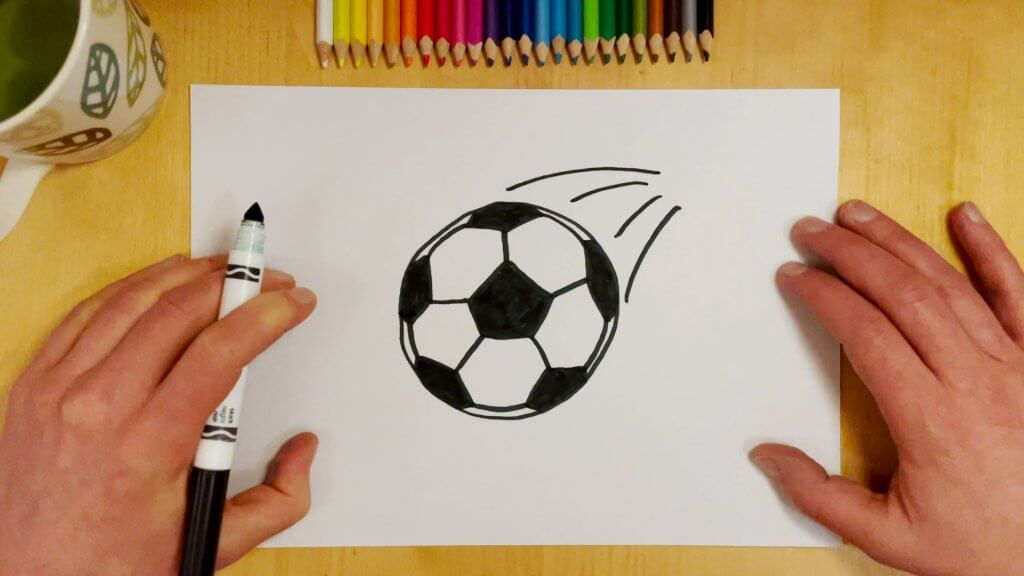 How to Draw a Soccer Ball or Football Step 8