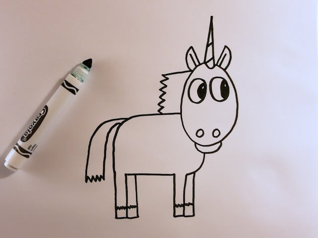 How to Draw a Cartoon Unicorn